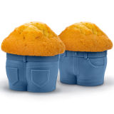 Mr. Muffin Cups Jeans Baking Silicone Molds for Cakes, Muffin Bake Molds