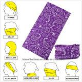 Factory Produce Purple Paisley Polyester Snowboard Seamless Bandana