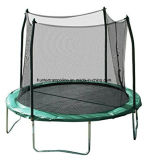 Green Jumping Bed (trampoline) with Safety Enclosure Net for Child Playing