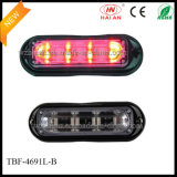 Red LED in Liner 4 Lens Warning Lights