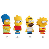 Simpson Family USB Flash Drive Cartoon USB Flash Drive Pen Drive Pendrive 8g/16g/32g/64G Memory Stick USB Stick Free Shipping