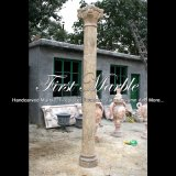 Antique Travertine Hollow Column for Home Decoration Mcol-312