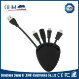 3 in 1 Silicon Many Colors Power Cable fashion Design