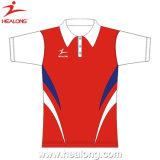 Healong 100% Polyester Sublimaiton New Design Women Polo T Shirt