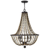5 Light Amber Crystal Chandelier (100450)