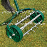 Rolling Grass Lawn Spike Aerator with Metal Protection Guard (GT301)