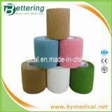 Colored Hand Tear Cotton Self - Adhesive Elastic Bandage