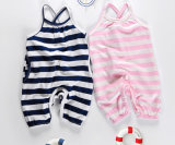Wholesale Summer Hot Sale Kid′s Striped Cotton One-Piece Baby Suspenders