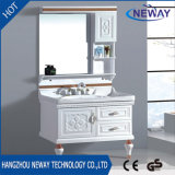Modern Design Waterproof Mirror Unit PVC Bathroom Cabinet