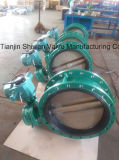 Worm Gear Operated U-Section Double Flange Butterfly Valve
