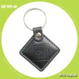 Kel01 Leather Material FM11RF08 13.56MHz RFID Keychains (GYRFID)