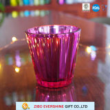 High Quality Electroplated Glass Candle Holder