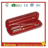 High Quality Wooden Twin Pen with Wooden Gift Box