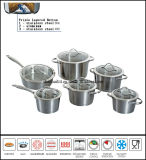 12PCS Stainless Steel Impact Bottom Casserole Set