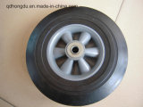 "10""X2.5"" Solid Rubber Wheel with Plastic Rim"