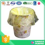 Plastic Disposable Yellow Trash Bag on Roll