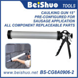 15′′ Sausage Caulking Gun with Aluminum Barrel for 600ml Capacity