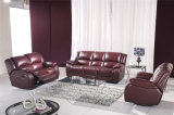 Red Color Recliner Leather Sofa Furniture