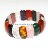 Semi Precious Stone Fashion Crystal Beaded Faceted Bracelet Jewelry