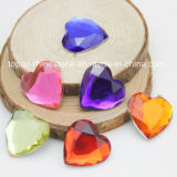 Heart Shape Flat Back Acrylic Rhinestone Resin Rhinestones (FB-16mm Heart)