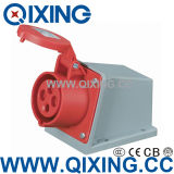 16A Three Phase Industrial Socket for Surface Mounted (QX-105)