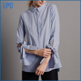 Fashion Cotton Blend Striped Shirt for Ladies