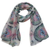 Fashion 100% Polyester Voile Printed Scarf (YKY4221)