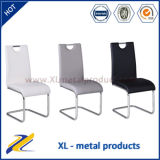 Wholesale Dining Chair, White Leather Metal Chair