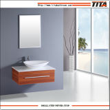 Cheap European Cabinet MDF Wall Mounted Modern Bathroom Vanity with Ceramic Sink