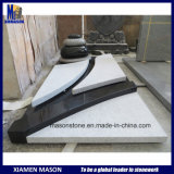 Mason France Customized Monument with Pebbles