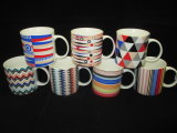 Seven Stlye Colorful Lines Ceramic Mug