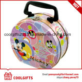 Cartoon Printed Heart Shape Metal Lunch Container Tin Box for Gift