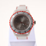 Silicon Material Watch with Plastic Case Men′s Wrist LED Watch
