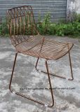 Metal Leisure Stackable Side Wire Dining Restaurant Garden Chairs