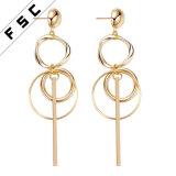 New Design Gold Jhumke Jewellery Long Drop Tassel Dangling Earrings