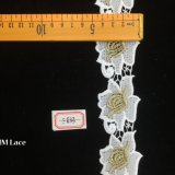 5cm Vintage Polyester Embroidery Big Flower Hollow out Lace Trim Hme833