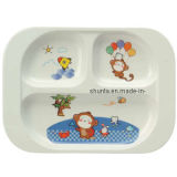 "100% Melamine ""Bigi"" Series Kid′s Cute 3-Divided Plate (WT801)"