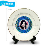 Personalized Decorative Gold Rim Plate for Sublimation 10