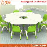MDF Flower Shape Children Tables and Chairs Preschool Kindergarten Furniture