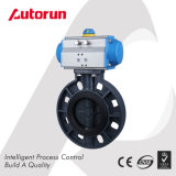 Plastic PVC Butterfly Valve with Pneumatic Actuator