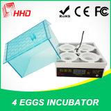High Hatching Rate Fully Automatic Mini 4 Eggs Incubator