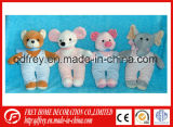 Plush Bear, Mouse, Pig, Elephant with Rompers
