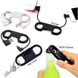 Handy Keychain Bottle Opener Cellphone Charge Cable for iPhone Android