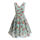 Designer One Piece Vintage Linen Dress 1950s Women Plus Size