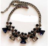 Fashion Vintage Diamond Crystal Heart Pendant Choker Necklace Jewelry