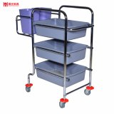 Hot Sale Detachable Type Plastic Kitchen Trolley for Plate Collection