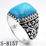 Factory Wholesale Silver Jewelry Ring with Turquoise Stone