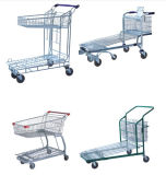 Factory Warehouse Steel Cargo Unfoldable Flat Trolley