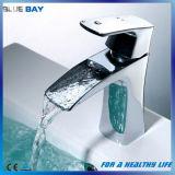 Copper Sink Chrome Bathroom Waterfall Faucet Mixer