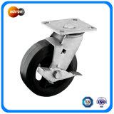 Heavy Duty Rubber Cast Iron Core Casters